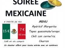 Soirée Mexicaine organisée par le Basket : samedi 1er février